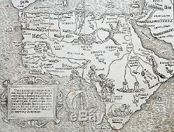 1560 Sebastian Antique Map of Africa First Map of the African Continent