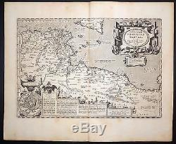 1624 ORTELIUS map Northern Africa, from Tunisia to Lybia with inset Carthage