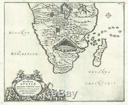 1665 Kircher Map of Southern Africa