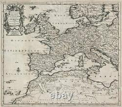 1710 Van der Aa Map of Europe and North Africa