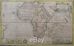 1715 Moll HUGE map of Africa Madagascar Guinea Egypt Cape of Good Hope Reunion