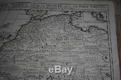 1719 Chatelain Map North Western Africa Rivers Lakes Clean Example