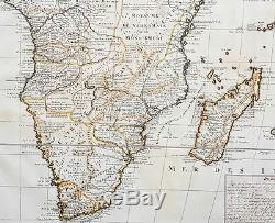 1719 Chatelain Original Antique Map of Southern Africa & Madagascar