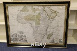 1720 MAP CHART OF AFRICA Amazing historical gem (unframed unless collected)