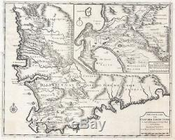 1726 Valentijn Map of the Cape of Good Hope, South Africa