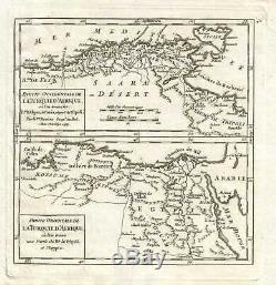 1749 Vaugondy Map of North Africa
