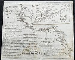 1755 Seale & Postlethweyt Large Antique Map Trade Routes & Forts of West Africa
