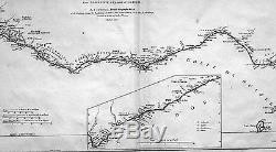 1775 D Anville Large Antique Map of West Africa Liberia east to Gabon