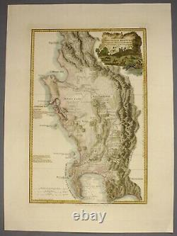 1789 southern AFRICA Delarochette large and fine h/c map Cape of Good Hope