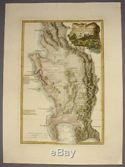 1789 southern AFRICA Delarochette large and fine h/c map ...