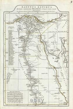 1794 Anville Map of Ancient Egypt