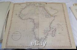 1801 COLOR Map/AFRICA, Plus other maps (1808 EGYPT/Calcutta, India)