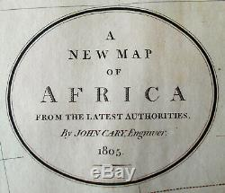 1805 John Cary Africa African Continent Antique Map Folio (1808)
