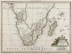 1809, Antique Map South Africa, Malta-Brown. Antique Map of South Africa