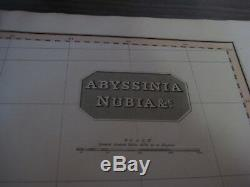 1814 MAP Abyssinia Nubia by Cadell & Davis London Hand Colored 22 1/4 x 32 1/4
