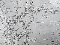 1829 West Coast Of Africa River Gambia Genuine Vintage Admiralty Chart Map