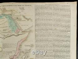 1830ca Large Card Geographical of Africa Lesage Engraving Antique