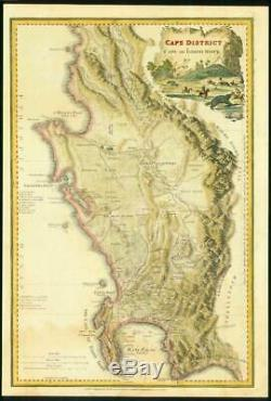 1836 Antique Map South Africa CAPE DISTRICT CAPE OF GOOD HOPE by Wyld (LM6)