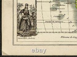 1840ca map of Africa engraving antique Very Rare