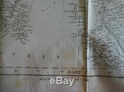 1843 Map of Asia From M'Culloch's Universal Gazetter Engraved by C. Copley