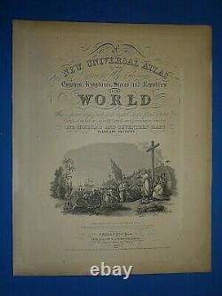 1849 S A Mitchell Universal Atlas Map AFRICA LIBERIA by TANNER Old Authentic