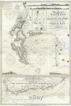 1860 Norie Nautical Map of the Cape of Good Hope and False ...