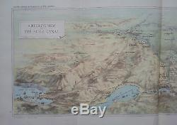 1882 Map Of The Suez Canal By Maclure & Macdonald Lithographer To The Queen
