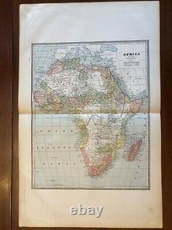 1883 Africa Continental Map, Cram's Unrivaled Family Atlas of the World