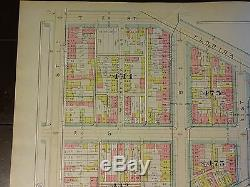 1892 Map of NW DC-LeDroit Park Q-T Streets Rare large property specific detail