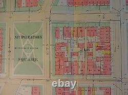 1892 Map of NW DC- McPherson Square Rare large property specific detail