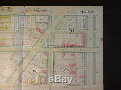 1892 Map of NW DC N. Of Dupont Circle Rare large property specific detail