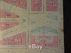 1892 Map of NW DC-Penn Qtr -B to E Streets Rare large property specific detail