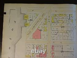 1892 Map of NW DC Potomac River to 23rd-Rare large property specific detail