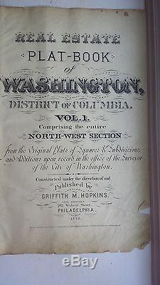 1892 Map of NW DC- Shaw Neighborhood Rare large property specific detail