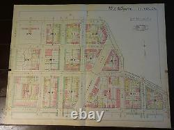 1892 Map of NW DC- Shaw'hood 13th to 7th Rare large property specific detail