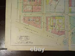 1892 Map of NW DC- US Capitol Rare large property specific detail