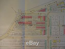 1892 Map of NW DC U St. Corridor -Rare large property specific detail