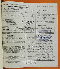 1927-1951 Major Robertson WWII SUDAN DEFENCE FORCE Primary Source Documents