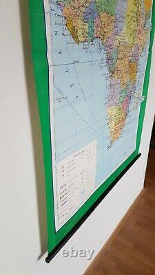 1989 Large Vintage Political School Map Africa Pull Down map (64 x 46)