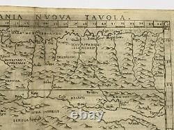 AFRICA 1598 RUSCELLI PTOLEMY 16e CENTURY UNUSUAL ANTIQUE ENGRAVED MAP