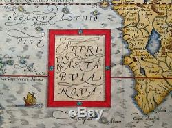 AFRICA 1628 by SEBASTIAN MUNSTER COSMOGRAPHY UNUSUAL ANTIQUE ENGRAVED MAP