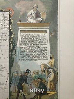 AFRICA 1845 by Victor LEVASSEUR LARGE DECORATIVE ANTIQUE MAP 19TH CENTURY