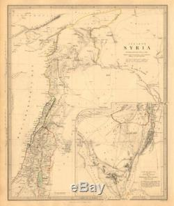ANCIENT SYRIA. Levant Sinai. Wanderings of the Israelites. SDUK 1846 old map