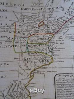 ANTIQUE 1800 MAP OF AFRICA BY LAURIE & WHITTLE of LONDON