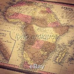 ANTIQUE ORIGINAL 1834 H. S TANNER MAP OF AFRICA, HAND COLORED. MUST SEE. L@@k