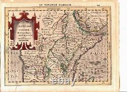 Abissino Rumsiue by Cloppenburg 1860 Hand Colored Map Ethiopia