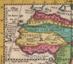 Africa Afrique Elias Baeck mappa antica antique map 1748 incisione rame