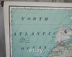 Africa Antique Vintage Rand McNally Pull Down Wall Map 82660