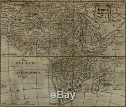 Africa Continent 1694 Mosting rare map