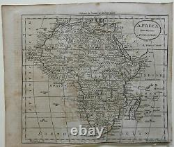 Africa Continent Man-Eaters 1796 Amos Doolittle American map Wheat & Brun #851